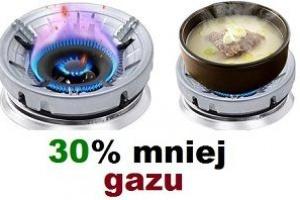 oszczędza gaz i czas gotowania